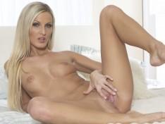 Hot Blonde, Neilia Feline, Has a Dildo in her Pussy!