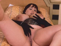 Desire Gets Nasty in Her Leather Lingerie!