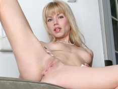 Angie Savage Fills Her Hole With Her Dildo!