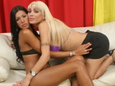 Celeste Glamour and Violeta Rojas Bang Each Other's Holes!